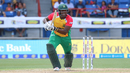 American batsman Steven Taylor drives for a single on his Amazon Warriors debut, Guyana Amazon Warriors v St Kitts and Nevis Patriots, Lauderhill, CPL, August 5, 2017