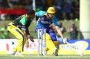 Wayne Parnell tries to make his ground, Barbados Tridents v Jamaica Tallawahs, CPL, Lauderhill, August 5, 2017