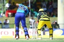 Chris Barnwell is bowled by Imad Wasim, Barbados Tridents v Jamaica Tallawahs, CPL, Lauderhill, August 5, 2017
