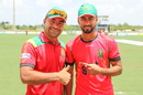 Afghanistan legspinner Rashid Khan and USA medium pacer Ali Khan have become fast friends, CPL, Lauderhill, August 4, 2017