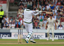 Duanne Olivier fell to a top edge, England v South Africa, 4th Investec Test, Old Trafford, 3rd day, August 6, 2017