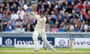 Keaton Jennings drives through the covers, England v South Africa, 4th Investec Test, Old Trafford, 3rd day, August 6, 2017