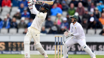Moeen Ali struck three sixes as he reached 67 not out before the rain arrived