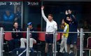Jonny Bairstow caught a six from Moeen Ali on the England balcony, England v South Africa, 4th Investec Test, Old Trafford, 3rd day, August 6, 2017