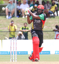 Chris Gayle pulls through midwicket for a boundary during his 66 off 55 balls, Guyana Amazon Warriors v St Kitts and Nevis Patriots, Lauderhill, CPL, August 6, 2017