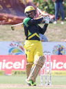 Andre McCarthy goes to pull over square leg during his 60, Barbados Tridents v Jamaica Tallawahs, Lauderhill, CPL, August 6, 2017