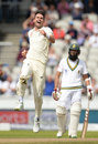 James Anderson ended Heino Kuhn's torrid series, England v South Africa, 4th Investec Test, Old Trafford, 4th day, August 7, 2017
