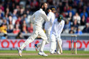 Moeen Ali had Quinton de Kock caught at slip, England v South Africa, 4th Investec Test, Old Trafford, 4th day, August 7, 2017