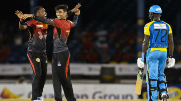Shadab Khan finished with figures of 1 for 16 off four overs