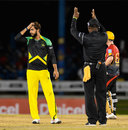 Imad Wasim looks on after being hit for six, T&T Riders v Jamaica Tallawahs, CPL 2017, Port of Spain