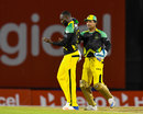 Kesrick Williams brings out his celebratory notebook, T&T Riders v Jamaica Tallawahs, CPL 2017, Port of Spain