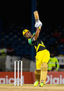 Lendl Simmons lifts one over the long-off boundary, T&T Riders v Jamaica Tallawahs, CPL 2017, Port of Spain