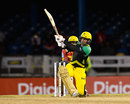 Kumar Sangakkara lifts a sweep over midwicket, T&T Riders v Jamaica Tallawahs, CPL 2017, Port of Spain