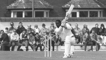 Viv Richards drives on one knee