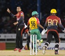 Sunil Narine celebrates Babar Azam's dismissal, Trinbago Knight Riders v Guyana Amazon Warriors, CPL 2017, Port of Spain, August 11, 2017