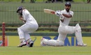 Kusal Mendis ducks in time to evade a Shikhar Dhawan force, Sri Lanka v India, 3rd Test, 1st day, Pallekele, August 12, 2017