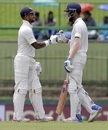 Shikhar Dhawan and KL Rahul shared a 188-run opening stand, Sri Lanka v India, 3rd Test, 1st day, Pallekele, August 12, 2017