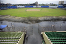 An inundated Khan Shaheb Osman Ali Stadium as seen from the ground's southern stands, Fatullah, August 10, 2017