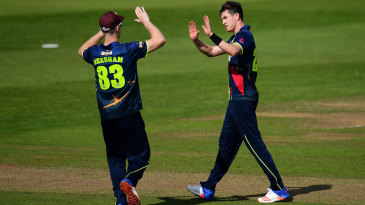 Adam Milne claims another wicket for Kent