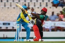 Evin Lewis punished the St Lucia bowlers during his innings of 92, St Lucia Stars v St Kitts and Nevis Patriots, CPL 2017, Gros Islet, August 12, 2017