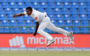 Vishwa Fernando leaps in the air as he sends down a delivery, Sri Lanka v India, 3rd Test, 2nd day, Pallekele, August 13, 2017