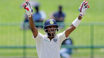 Hardik Pandya celebrates his second fifty of the series