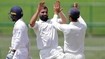 Mohammed Shami got seam movement to dismiss Sri Lanka's openers