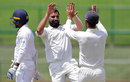 Mohammed Shami got seam movement to dismiss Sri Lanka's openers, Sri Lanka v India, 3rd Test, 2nd day, Pallekele, August 13, 2017
