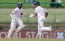 Dinesh Chandimal and Niroshan Dickwella put up a 63-run partnership, Sri Lanka v India, 3rd Test, 2nd day, Pallekele, August 13, 2017