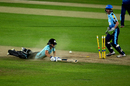 Marizanne Kapp of Surrey dives to make her ground, Surrey Stars v Yorkshire Diamonds, Women's Super League, Kia Oval, August 13, 2017