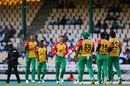 Guyana Amazon Warriors players celebrate Andre Fletcher's dismissal, St Lucia Stars v Guyana Amazon Warriors, CPL 2017, Gros Islet, August 13, 2017