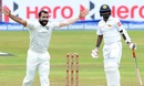 Mohammed Shami continuously troubled batsmen with his seam movement, Sri Lanka v India, 3rd Test, 3rd day, Pallekele, August 14, 2017