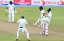 Dimuth Karunaratne watches his outside edge pouched by slip, Sri Lanka v India, 3rd Test, 3rd day, Pallekele, August 14, 2017