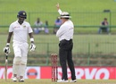 Angelo Mathews was given out lbw by umpire Richard Illingworth, Sri Lanka v India, 3rd Test, 3rd day, Pallekele, August 14, 2017
