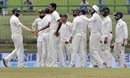 R Ashwin is congratulated on a wicket, Sri Lanka v India, 3rd Test, 3rd day, Pallekele, August 14, 2017