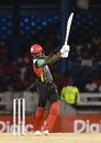 Shamarh Brooks muscles one over the leg side, Trinbago Knight Riders v St Kitts and Nevis Patriots, CPL 2017, Port of Spain, August 14, 2017