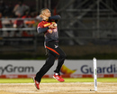 Sunil Narine in his bowling stride, Trinbago Knight Riders v St Kitts and Nevis Patriots, CPL 2017, Port of Spain, August 14, 2017