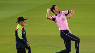 Steve Finn in action for Middlesex