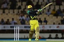 Andre McCarthy swipes the ball to the leg side, St Lucia Stars v Jamaica Tallawahs, CPL 2017, Gros Islet, August 15, 2017