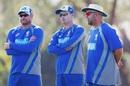 Ryan Harris, Brad Haddin and Darren Lehmann oversee the intra-squad match, Darwin, August 16, 2017
