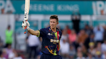 Joe Denly stuck 127 off 66 balls in a record opening stand during the T20 Blast