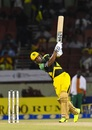 Lendl Simmons launches one down the ground, Jamaica Tallawahs v Amazon Guyana Warriors, CPL 2017, Providence, August 17, 2017