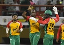 Steven Jacobs took 2 for 18 in four overs, Jamaica Tallawahs v Amazon Guyana Warriors, CPL 2017, Providence, August 17, 2017