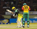 Kumar Sangakkara loses his leg stump, Jamaica Tallawahs v Amazon Guyana Warriors, CPL 2017, Providence, August 17, 2017