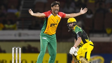 Sohail Tanvir appeals for a wicket