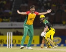 Sohail Tanvir appeals for a wicket, Jamaica Tallawahs v Amazon Guyana Warriors, CPL 2017, Providence, August 17, 2017