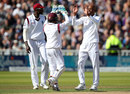 Roston Chase claimed the breakthrough moments before lunch, England v West Indies, 1st Investec Test, Edgbaston, 2nd day, August 18, 2017