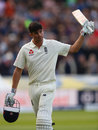 Alastair Cook walks off to an ovation after making 243, England v West Indies, 1st Investec Test, Edgbaston, 2nd day, August 18, 2017