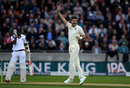 James Anderson removed Kraigg Brathwaite early in West Indies' reply, England v West Indies, 1st Investec Test, Edgbaston, 2nd day, August 18, 2017