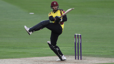 Peter Trego on the attack for Somerset
